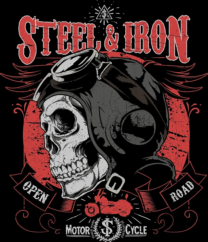 Steel and Iron Motorcycle  by CorvusAttic