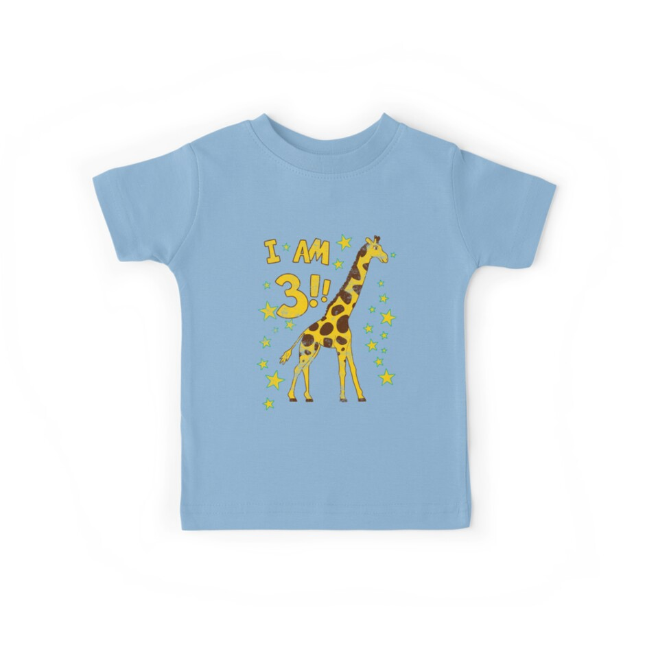 Giraffe 3rd Birthday Party by superpartytees