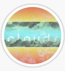 c l o u d s Sticker