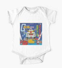 Mobile Suit Gundam Record Sleeve Front Cover Short Sleeve Baby One-Piece