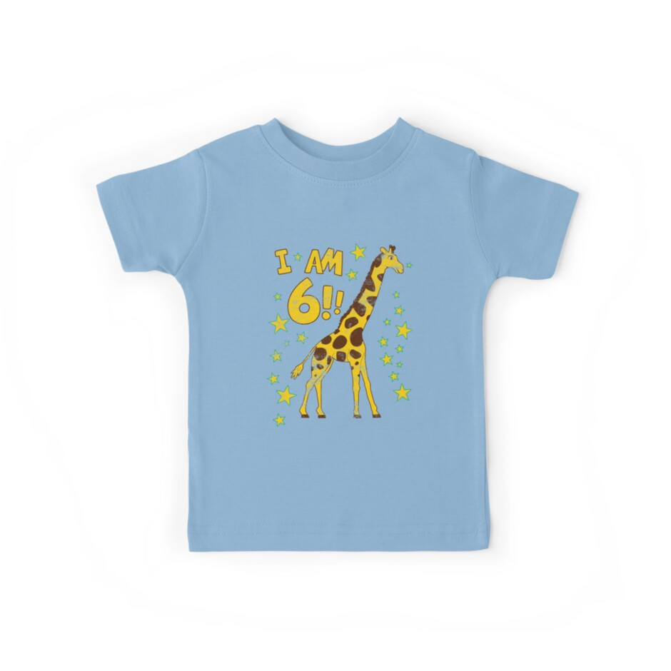 Giraffe 6th Birthday Party by superpartytees