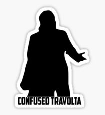 Confused Travolta Sticker