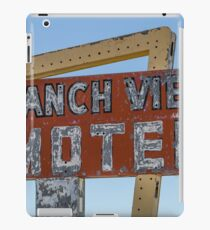Ranch View Motel, Vaughan, New Mexico iPad Case/Skin