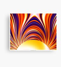 Color and Form Abstract - Solar Gravity and Magnetism 4 Canvas Print