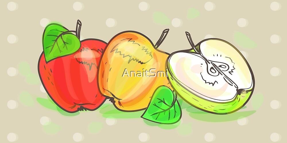 Apples retro art set by AnaitSmi