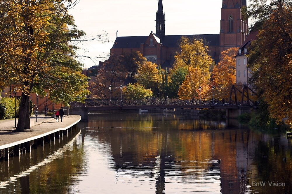 Uppsala, Fyris river, autumn by BnW-Vision