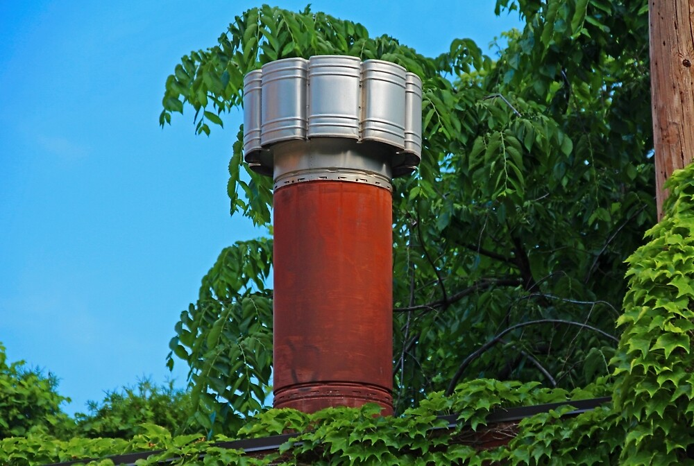Old West End Mary Manse Building Chimney by Michiale