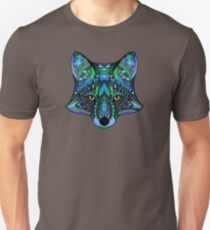Psychedelic Fox Spirit Totem Guide Sacred Shaman T-Shirt