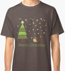 Cute hedgehog Christmas Scene Classic T-Shirt