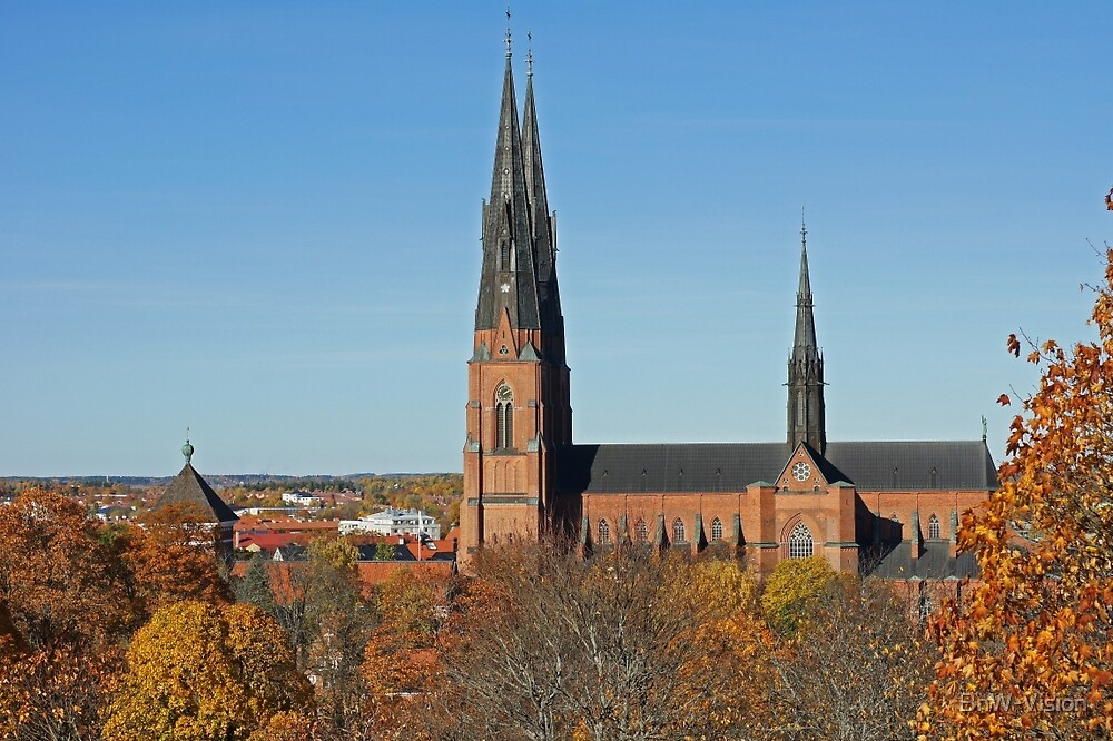 Uppsala Cathedral, autumn colors by BnW-Vision