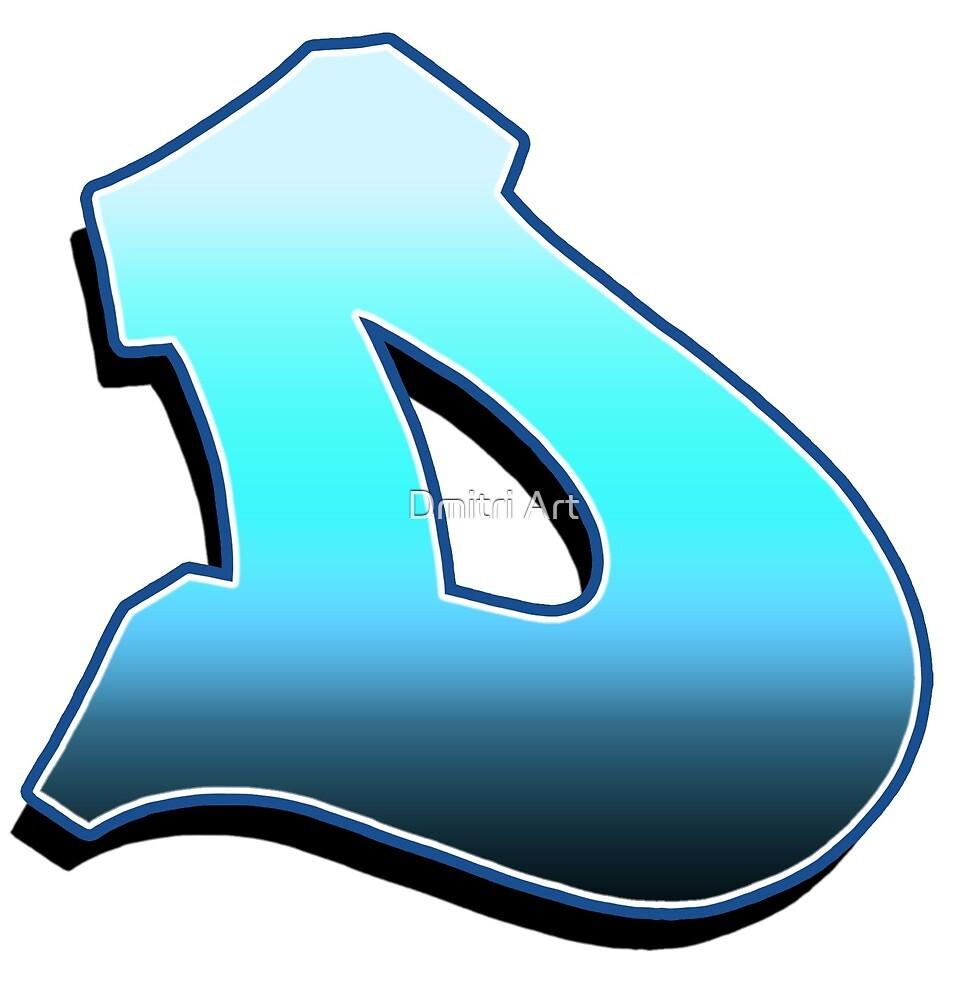 Letter D - Blue Fade by paintcave