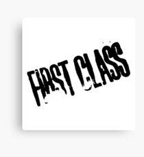 First Class Canvas Print
