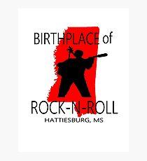 Rock Birth Red Photographic Print
