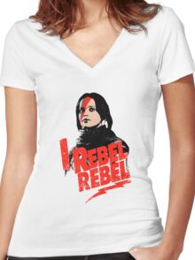 I Rebel Rebel Women's Fitted V-Neck T-Shirt