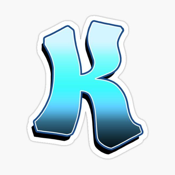 Letter K - Blue Fade Sticker