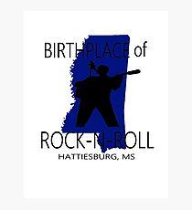 Rock Birth Blue Photographic Print