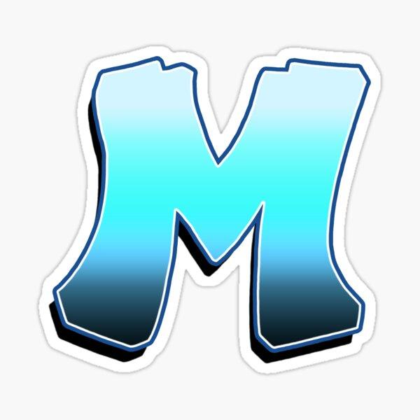 Letter M - Blue Fade Sticker