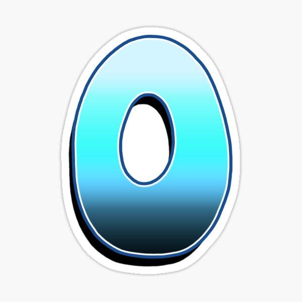 Letter O - Blue Fade Sticker