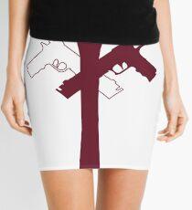 DEVIL ARMS RED Mini Skirt