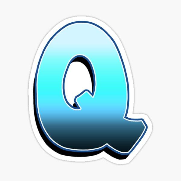 Letter Q - Blue Fade Sticker
