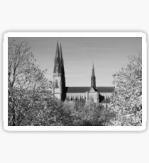 Uppsala Cathedral, Black and White Sticker