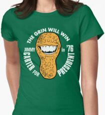 The Grin Will Win (Carter in '76) Womens Fitted T-Shirt