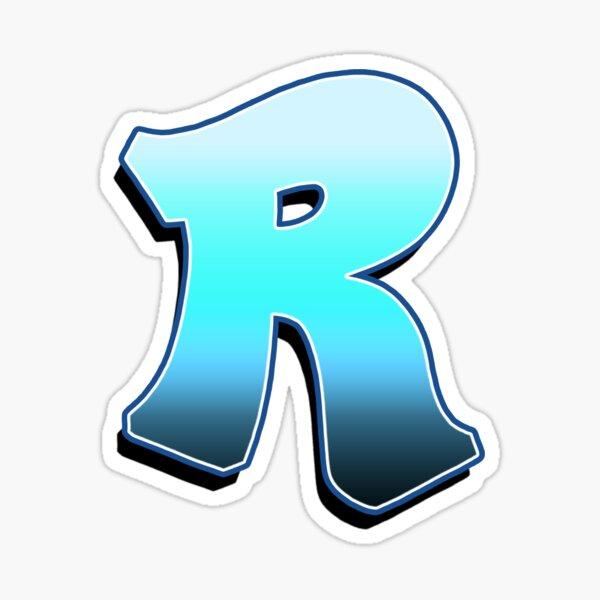 Letter R - Blue Fade Sticker