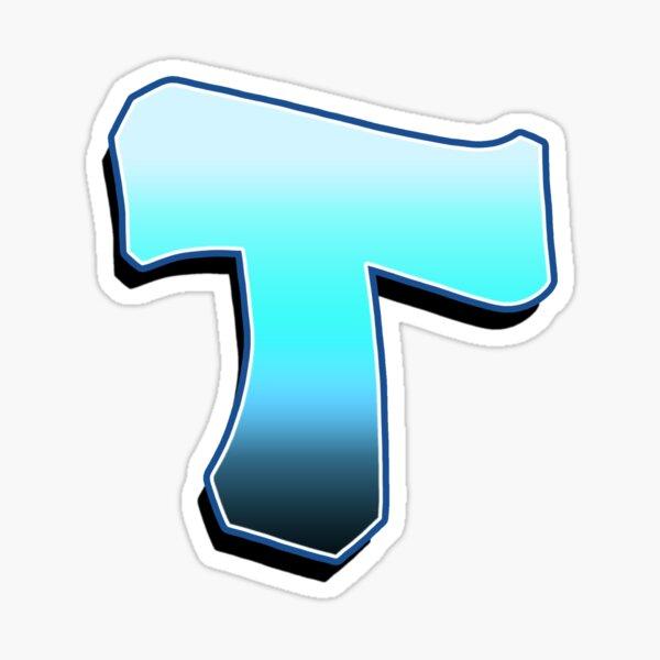 Letter T - Blue Fade Sticker