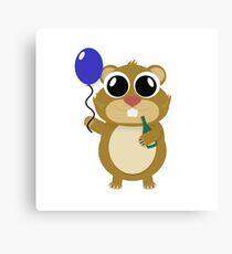 Hamster Hezy Canvas Print