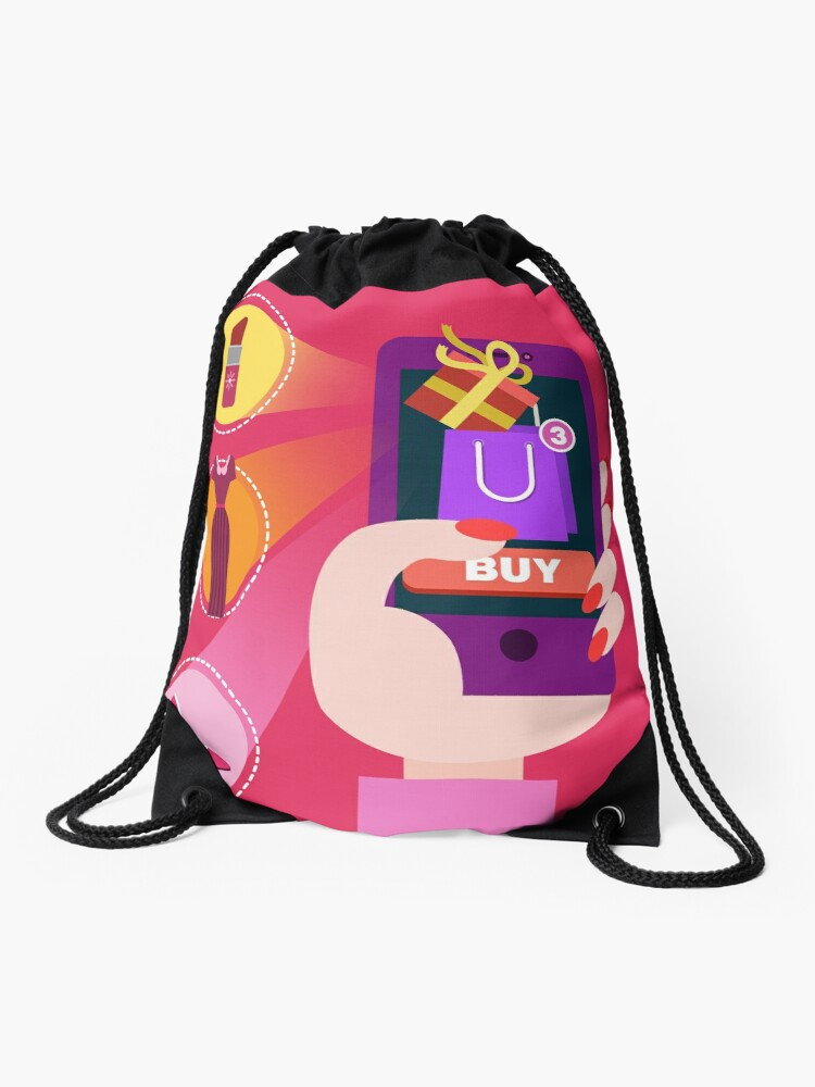 1c633159c50d Concept of Mobile Online Shopping   Drawstring Bag