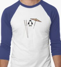Penguin on the rocks Men's Baseball ¾ T-Shirt