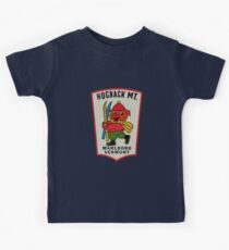 Camiseta para niños Calcomanía de viaje vintage Hogback Mountain Marlboro Vermont