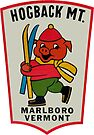 Hogback Mountain Marlboro Vermont Vintage Travel Decal by hilda74