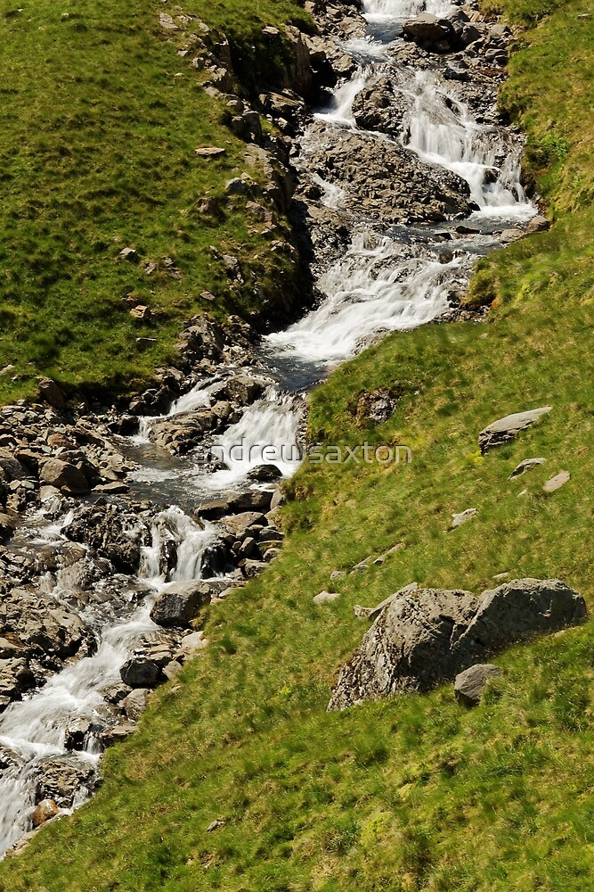 HILL SIDE WATERFALL by andrewsaxton