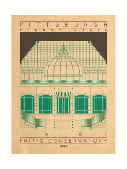 Phipps Conservatory - 1893 (Green) by HendersonGDI