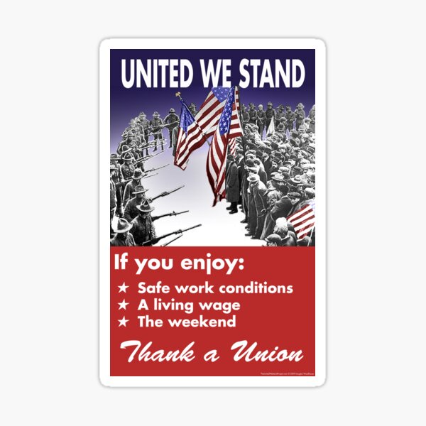 Union Posters: United We Stand Sticker