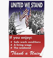 Union Poster: Gemeinsam stehen wir Poster