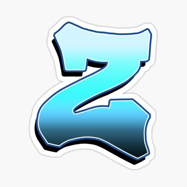 Letter Z - Blue Fade Sticker