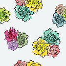 Crayon Roses by lollylocket