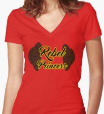Rebel Princess Women's Fitted V-Neck T-Shirt