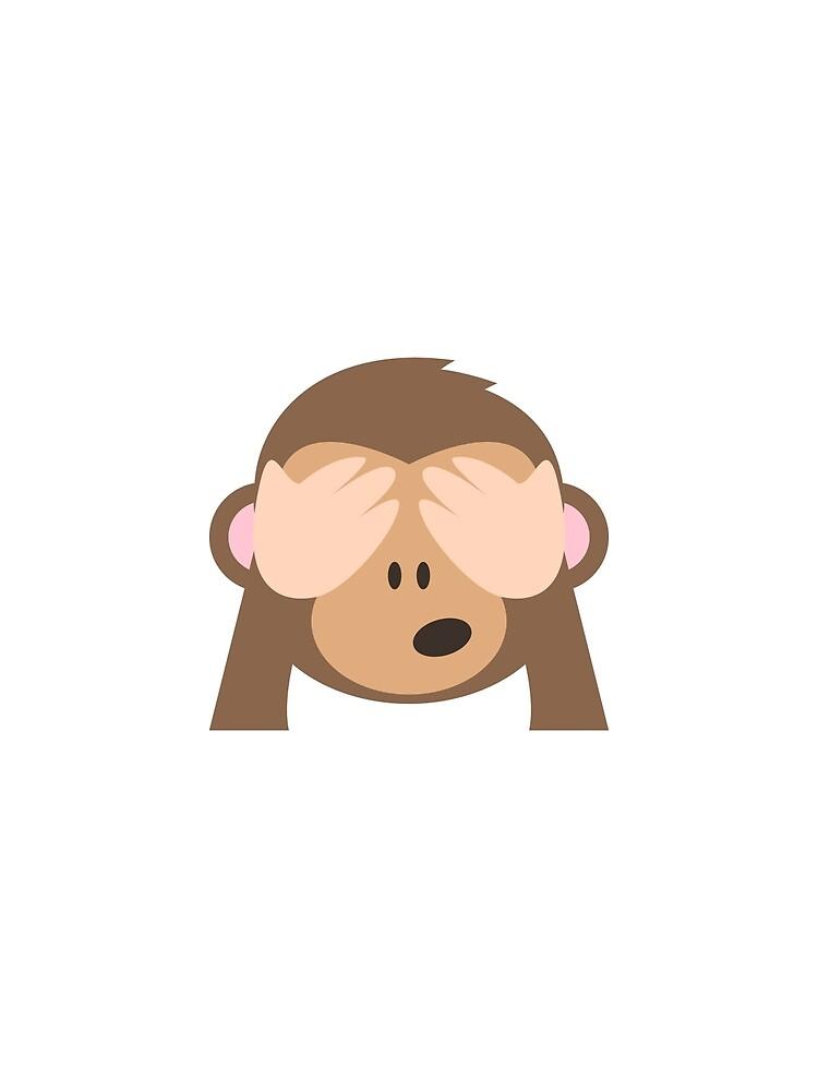 See No Evil Monkey Emoji by stamus
