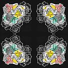 Tattooed Roses Squared Corners by lollylocket