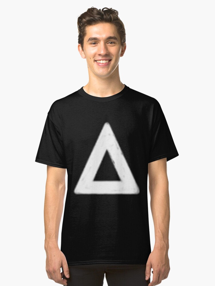 bastille triangle (white) Classic T-Shirt Front