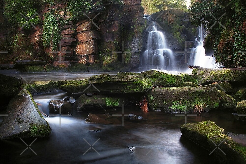 Penllergare waterfalls Swansea by Leighton Collins