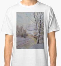 Last Winter Sunset Snow Scene Classic T-Shirt