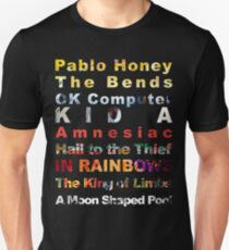 Radiohead albums Unisex T-Shirt