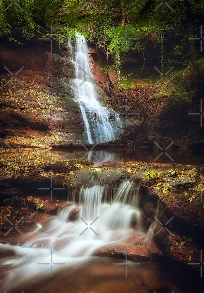 Pwll y Wrach Waterfalls Talgarth by Leighton Collins