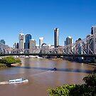 Brisbane River and city, Storey Bridge, Queensland. by johnrf