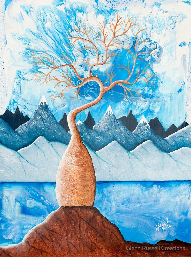 Blue Boab Tree by Glenn Russell Creations