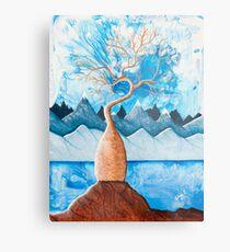 Blue Boab Tree Metal Print